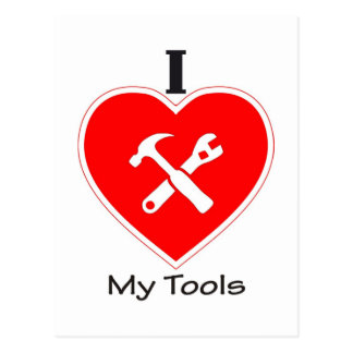 I love my tools postcard