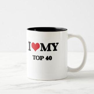 I Love My TOP 40 Two-Tone Coffee Mug