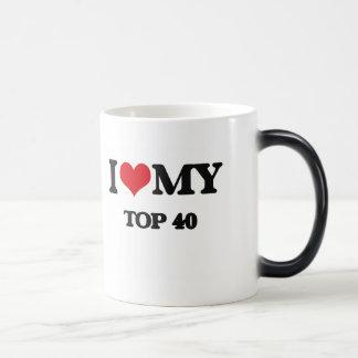 I Love My TOP 40 11 Oz Magic Heat Color-Changing Coffee Mug