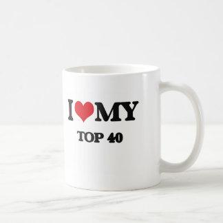 I Love My TOP 40 Classic White Coffee Mug