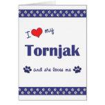 I Love My Tornjak (Female Dog) Cards