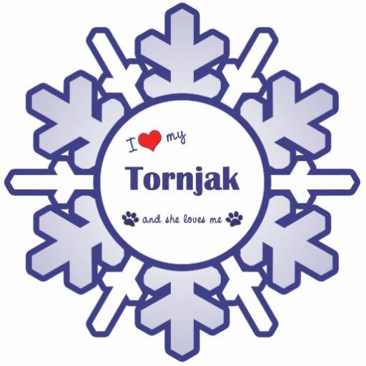I Love My Tornjak (Female Dog) Photo Sculptures