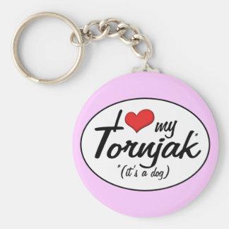 I Love My Tornjak (It's a Dog) Key Chain