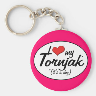 I Love My Tornjak (It's a Dog) Keychain