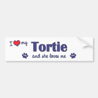 I Love My Tortie (Female Cat) Bumper Sticker
