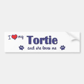 I Love My Tortie (Female Cat) Car Bumper Sticker