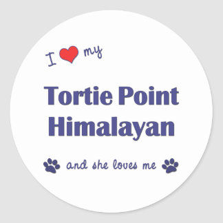 I Love My Tortie Point Himalayan (Female Cat) Classic Round Sticker