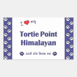 I Love My Tortie Point Himalayan (Female Cat) Rectangular Sticker