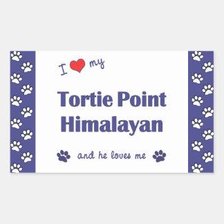 I Love My Tortie Point Himalayan (Male Cat) Rectangular Sticker