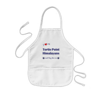 I Love My Tortie Point Himalayans (Multiple Cats) Kids' Apron