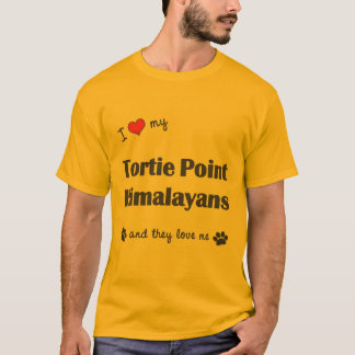 I Love My Tortie Point Himalayans (Multiple Cats) T-Shirt