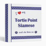 I Love My Tortie Point Siamese (Female Cat) Vinyl Binders