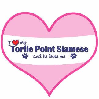 I Love My Tortie Point Siamese (Male Cat) Cutout