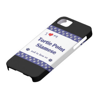 I Love My Tortie Point Siamese (Male Cat) iPhone SE/5/5s Case
