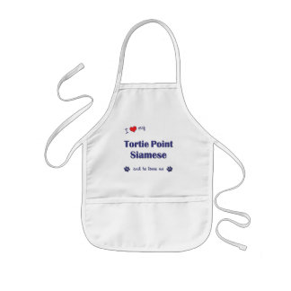 I Love My Tortie Point Siamese (Male Cat) Kids' Apron