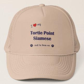 I Love My Tortie Point Siamese (Male Cat) Trucker Hat