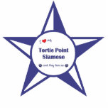 I Love My Tortie Point Siamese (Multiple Cats) Photo Sculpture
