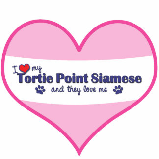 I Love My Tortie Point Siamese (Multiple Cats) Statuette