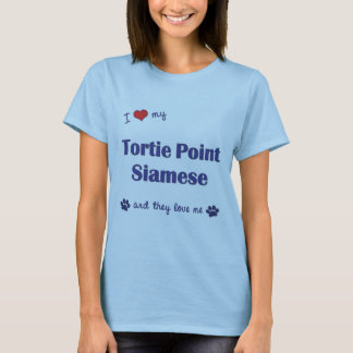 I Love My Tortie Point Siamese (Multiple Cats) T-Shirt