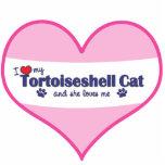 I Love My Tortoiseshell Cat (Female Cat) Photo Cutouts