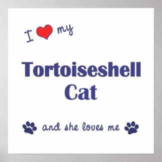 I Love My Tortoiseshell Cat (Female Cat) Poster
