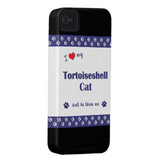 I Love My Tortoiseshell Cat (Male Cat) iPhone 4 Case-Mate Case
