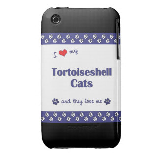 I Love My Tortoiseshell Cats (Multiple Cats) Case-Mate iPhone 3 Case