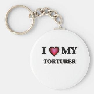 I love my Torturer Basic Round Button Keychain