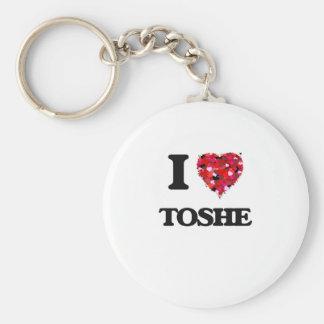 I Love My TOSHE Basic Round Button Keychain