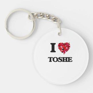 I Love My TOSHE Single-Sided Round Acrylic Keychain