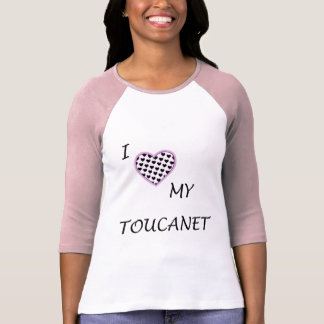 I Love My Toucanet two-color 3/4 sleeve shirt