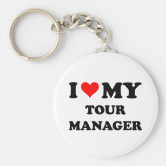 I Love My Tour Manager Keychains