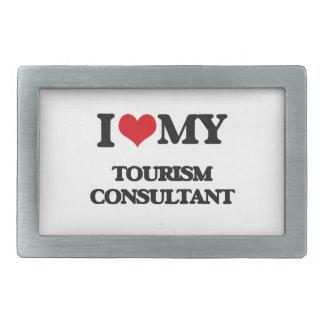 I love my Tourism Consultant Rectangular Belt Buckles