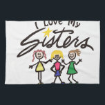 "I Love My Towel<br><div class=""desc"">Our cheerful group of sweet sisters is a super cute way to create amazing gifts.  Try it as tee shirt art or print art!</div>"