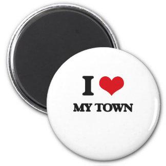 I love My Town Fridge Magnets