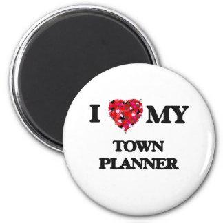 I love my Town Planner 2 Inch Round Magnet