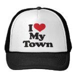 I Love My Town Trucker Hat