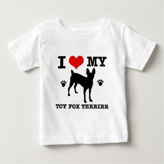 I love my Toy fox Terrier Baby T-Shirt