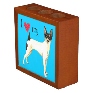 I Love my Toy Fox Terrier Pencil Holder