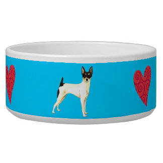 I Love my Toy Fox Terrier Dog Bowls