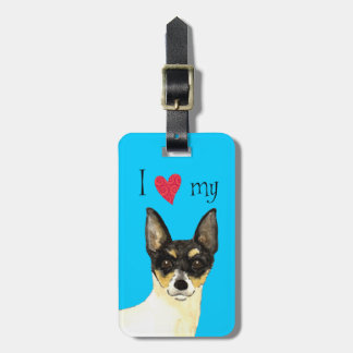 I Love my Toy Fox Terrier Travel Bag Tag