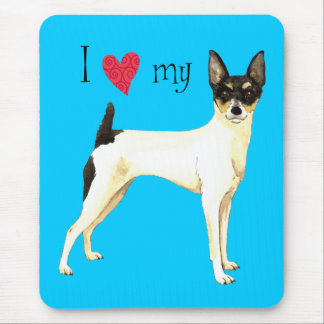 I Love my Toy Fox Terrier Mouse Pad