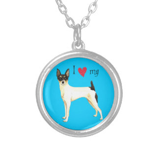 I Love my Toy Fox Terrier Silver Plated Necklace
