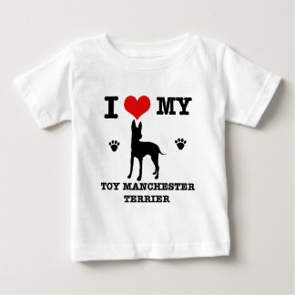 I Love my Toy manchester Terrier Baby T-Shirt