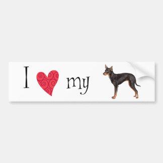 I Love my Toy Manchester Terrier Bumper Sticker