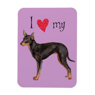 I Love my Toy Manchester Terrier Magnet