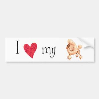 I Love my Toy Poodle Bumper Sticker
