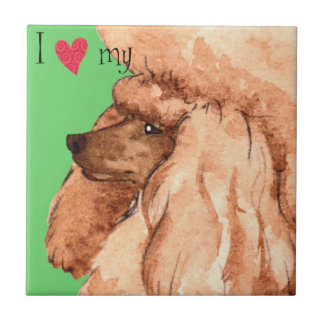 I Love my Toy Poodle Ceramic Tile