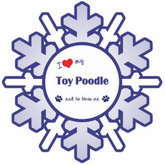 I Love My Toy Poodle (Male Dog) Acrylic Cut Out