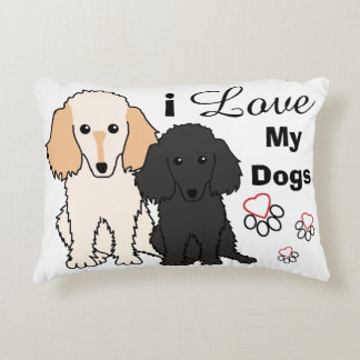 I Love My Toy Poodles Pillow